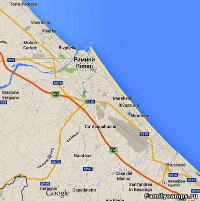 Карта Римини